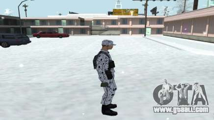 Winter Skin (Army) 1.1 for GTA San Andreas