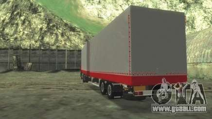 Trailer Chereau for MAN F2000 for GTA San Andreas