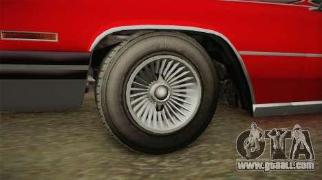 GTA 5 Albany Manana 4-doors for GTA San Andreas back view