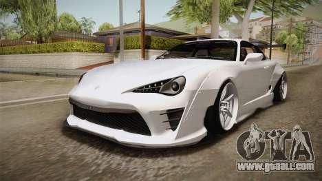 Toyota Supra 8PraLift Hachi NieR Automata 2B for GTA San Andreas right view