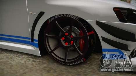 Mitsubishi Lancer EvoStreet PRO for GTA San Andreas back view