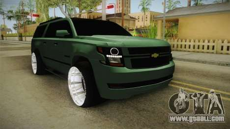 Chevrolet Tahoe GT Stance Bass Booster for GTA San Andreas back left view