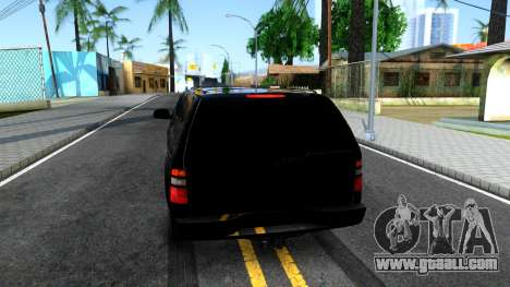 Chevrolet Tahoe for GTA San Andreas back left view