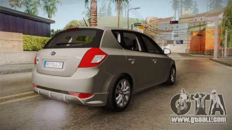 Kia Ceed for GTA San Andreas back left view