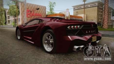 GTA 5 Pegassi Lampo 2017 IVF for GTA San Andreas back left view