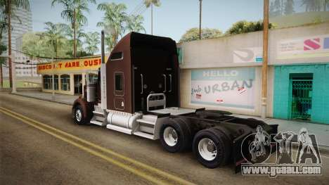 Kenworth W900 ATS 6x2 Middit Cab Normal for GTA San Andreas left view
