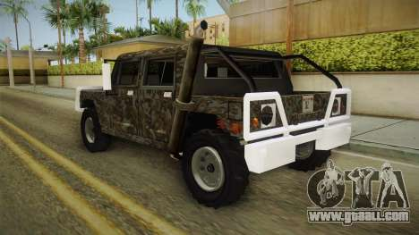 New Patriot Hummer for GTA San Andreas back left view