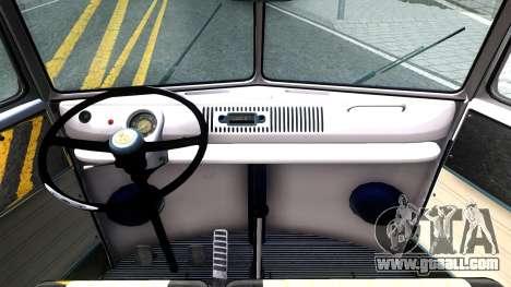 Volkswagen Transporter T1 Stance V2 for GTA San Andreas inner view