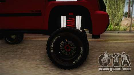 Chevrolet Tahoe Semi Offroad VZLA Edition for GTA San Andreas back view