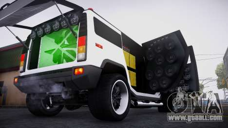 Hummer H2 Loud Sound Quality for GTA San Andreas left view