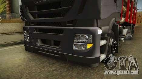 Iveco Stralis Hi-Way 560 E6 6x2 Timber v3.0 for GTA San Andreas upper view