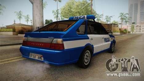 Daewoo-FSO Polonez Caro Plus Policja 2 1.6 GLi for GTA San Andreas back left view