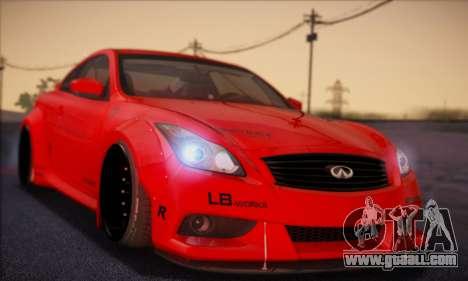 Infiniti G37 Coupe for GTA San Andreas