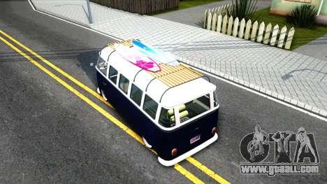 Volkswagen Transporter T1 Stance V2 for GTA San Andreas back view