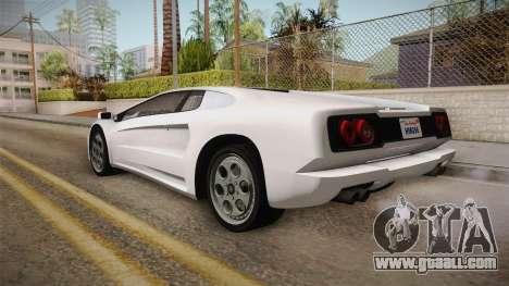 GTA 5 Pegassi Infernus Classic for GTA San Andreas left view