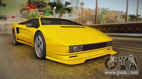 GTA 5 Pegassi Infernus Classic for GTA San Andreas back left view