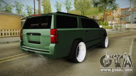 Chevrolet Tahoe GT Stance Bass Booster for GTA San Andreas left view