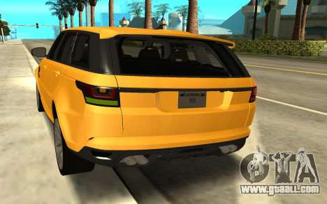 Land Rover Range Rover Sport Supercharged for GTA San Andreas back left view