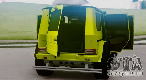 Mercedes-Benz G63 4x4 for GTA San Andreas back view
