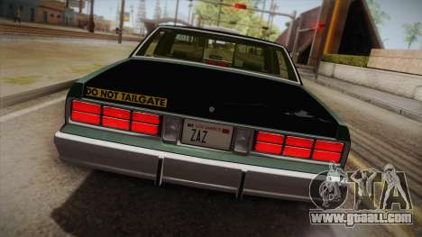 Chevrolet Caprice Taxi 1989 for GTA San Andreas back view