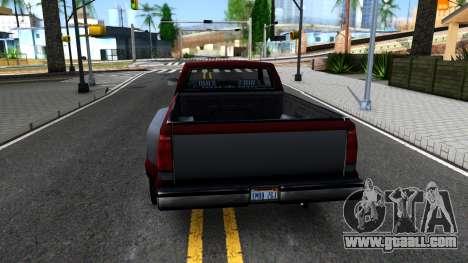 Chevrolet Silverado SA Style for GTA San Andreas back left view