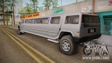 GTA 5 Mammoth Patriot Limo IVF for GTA San Andreas left view