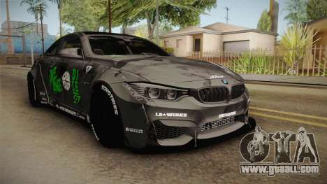 BMW M4 LB Walk Team-DiCE for GTA San Andreas right view