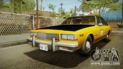 Chevrolet Caprice Taxi 1986 for GTA San Andreas back left view