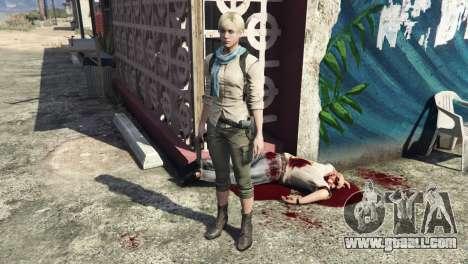 GTA 5 Sherry Birkin Resident Evil 6 second screenshot
