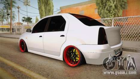Dacia Logan Tuning v2 for GTA San Andreas left view