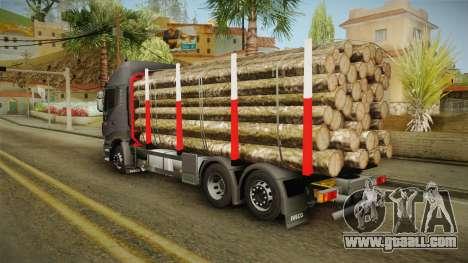 Iveco Stralis Hi-Way 560 E6 6x2 Timber v3.0 for GTA San Andreas back left view