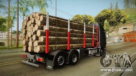 Iveco Stralis Hi-Way 560 E6 6x2 Timber v3.0 for GTA San Andreas left view