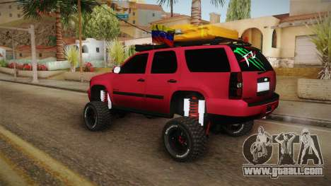 Chevrolet Tahoe Semi Offroad VZLA Edition for GTA San Andreas left view