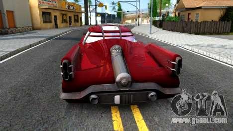 XNA Corvega Fallout 4 for GTA San Andreas back left view