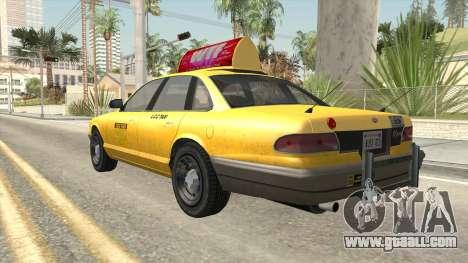 GTA 4 Taxi Car for GTA San Andreas right view
