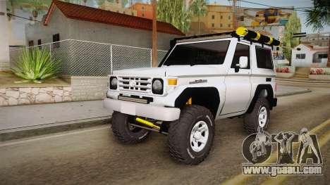 Toyota Land Cruiser Machito for GTA San Andreas right view
