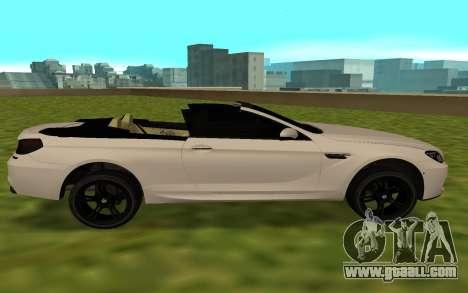 BMW M6 F13 Cabrio for GTA San Andreas left view