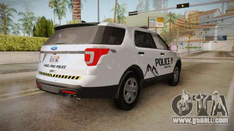Ford Explorer 2012 Angel Pine PD for GTA San Andreas back left view
