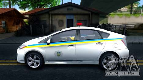Toyota Prius Ukraine Police for GTA San Andreas left view