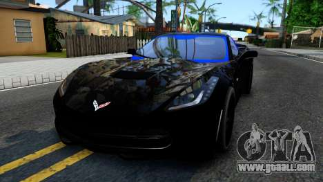 Chevrolet Corvette Stingray C7 2014 Blue Star for GTA San Andreas
