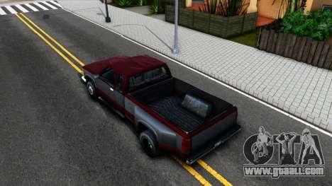 Chevrolet Silverado SA Style for GTA San Andreas back view