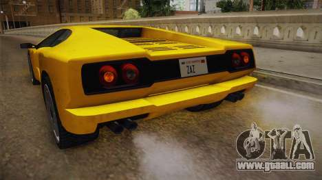 GTA 5 Pegassi Infernus Classic for GTA San Andreas upper view