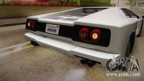 GTA 5 Pegassi Infernus Classic for GTA San Andreas interior