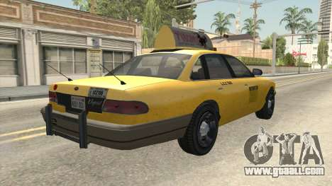 GTA 4 Taxi Car for GTA San Andreas left view