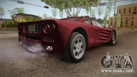 GTA 5 Progen GP1 for GTA San Andreas back left view