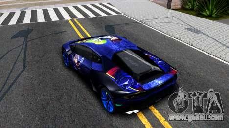 Lamborghini Huracan 2013 for GTA San Andreas back view