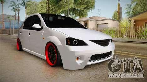 Dacia Logan Tuning v2 for GTA San Andreas right view