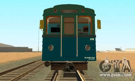 ST_M Metrostav type E for GTA San Andreas side view