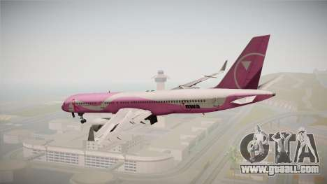 Boeing 757-200 Northwest Airlines Breast Cancer for GTA San Andreas right view