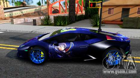 Lamborghini Huracan 2013 for GTA San Andreas left view